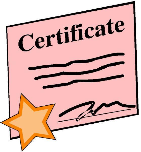 Certificaat zwemles