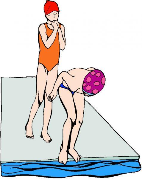 Kinderen die gaan schoolzwemmen