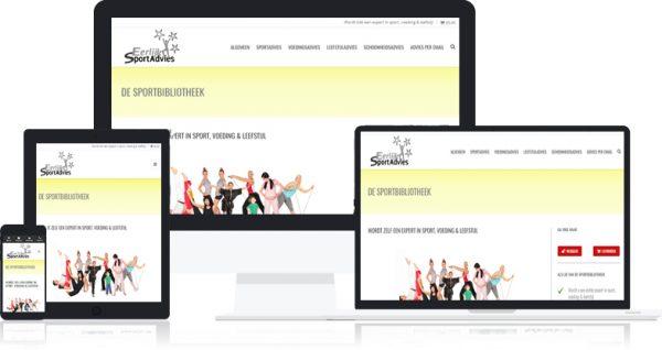Website van de Sportbibliotheek