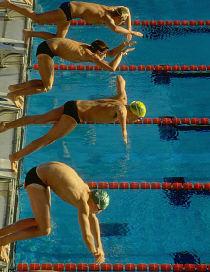 zwemmen en afvallen