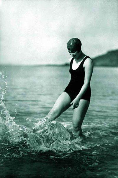 Zwemles in het verleden