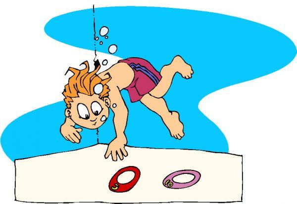Leren zwemmen op een vakantiecursus