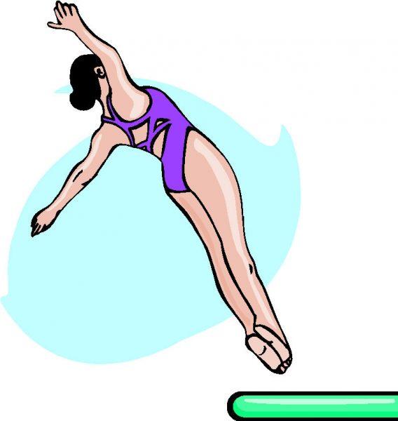 Schoonspringen als zwemsport