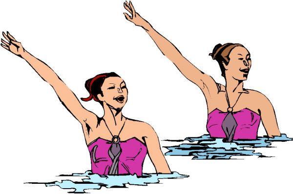 Samen synchroon zwemmen