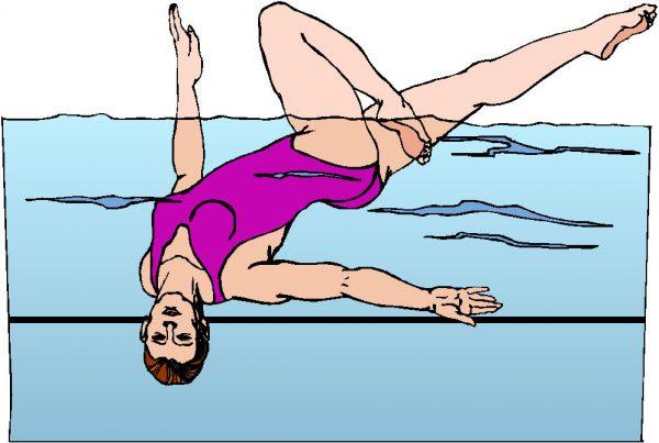 Oefeningen bij het synchroon zwemmen